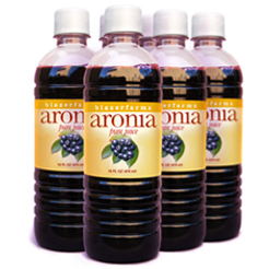 One case of Aronia juice, six 16 oz. bottles