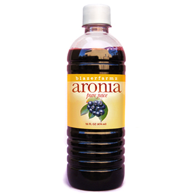 16 oz. bottle of cold-pressed Aronia juice